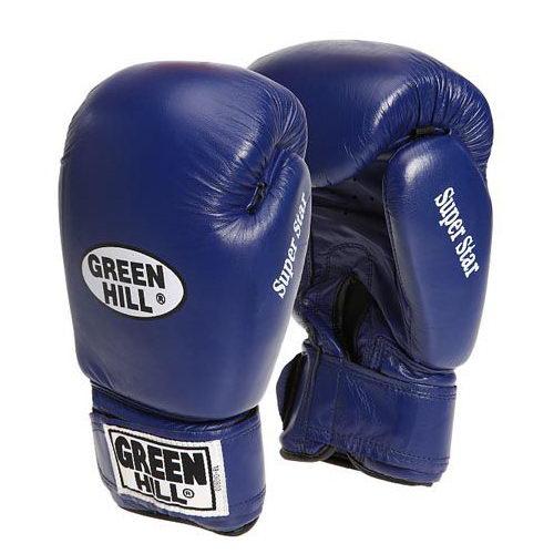 Перчатки боксерские боевые на липучке Super Star натуральная кожа 1
