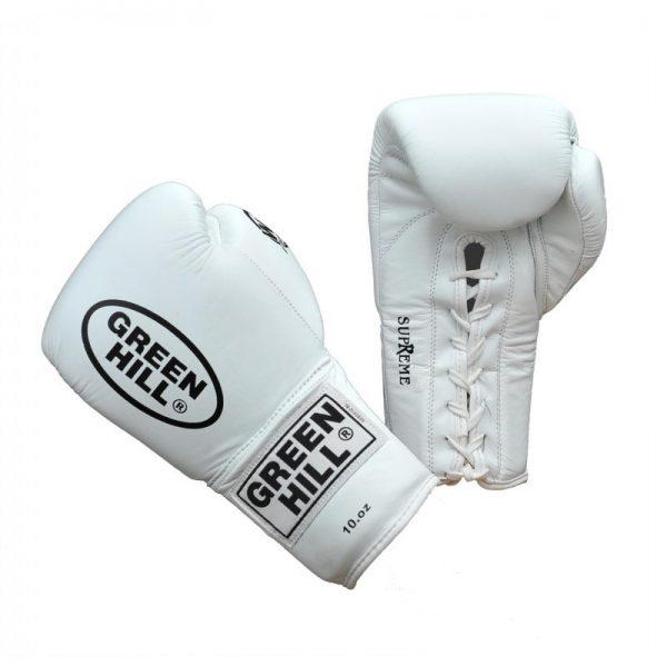 Перчатки для кикбоксинга из натуральной кожи SUPREME для тренировок и спаррингов 1