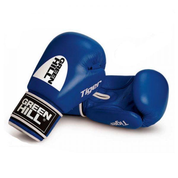 """Перчатки боксерские боевые TIGER верх из натуральной кожи, технология """"Антинокаут"""" 1"""