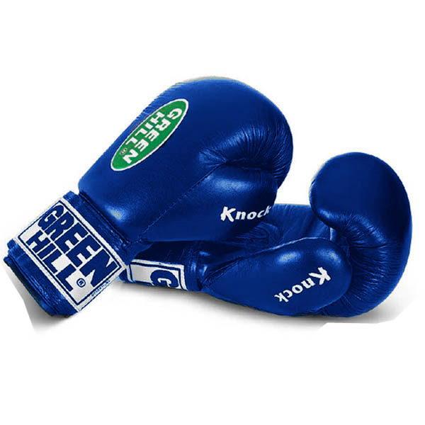 """Перчатки для бокса и кикбоксинга """"KNOCK"""" тренировочные из натуральной кожи 1"""