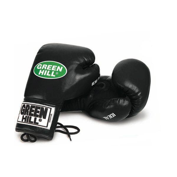 Перчатки боксерские боевые IDEAL для любого уровня соревнований на шнуровке, натуральная кожа 1