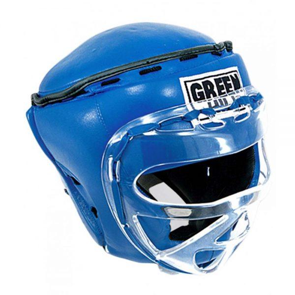 Шлем RING тренировочный закрытый боксерский, кикбоксерский, MMA шлем усиленная защита, натуральная кожа 1