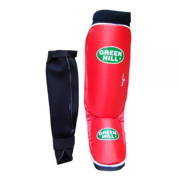 Защита голени и стопы COVER - накладки на ноги для карате и кикбоксинга, толщина 1,5 см
