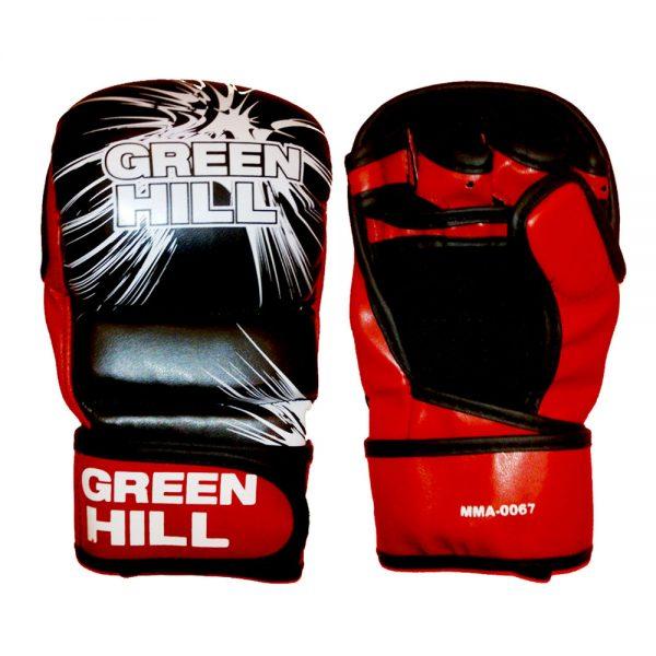 Перчатки MMA черно-красные искусственная кожа