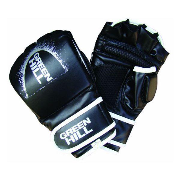 Перчатки MMA черные искусственная кожа