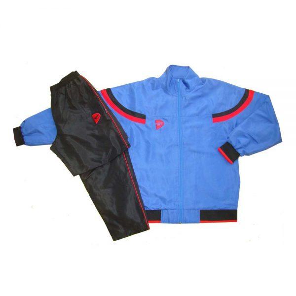 Костюм спортивный голубой полиэстер для занятий спортом и повседневного ношения
