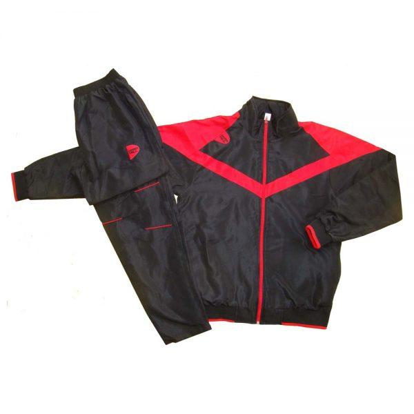 Костюм спортивный черный полиэстер для занятий спортом и повседневного ношения