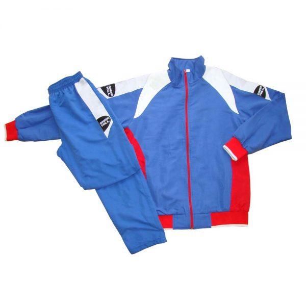 Костюм спортивный синий полиэстер для занятий спортом и повседневного ношения
