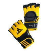Перчатки боевые Ultimate Fight Gloves - легкие, прочные и надежные,  из натуральной воловьей кожи с черными вставками из вспененного полимера