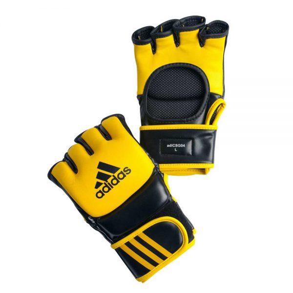 Перчатки боевые Ultimate Fight Gloves - легкие, прочные и надежные,  из натуральной воловьей кожи с черными вставками из вспененного полимера 1