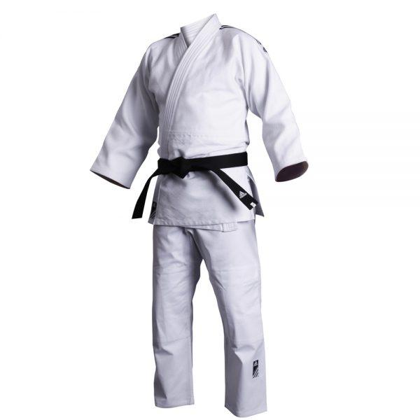 Кимоно для дзюдо Contest белое смесь полиэстера и хлопока усиленные места в областях с высокой нагрузкой 1