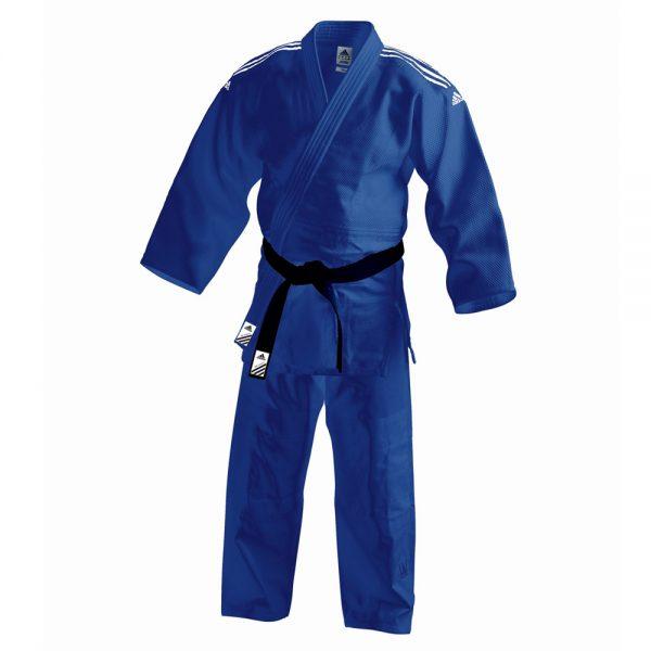 Кимоно для дзюдо Contest синее смесь полиэстера и хлопока усиленные места в областях с высокой нагрузкой 1