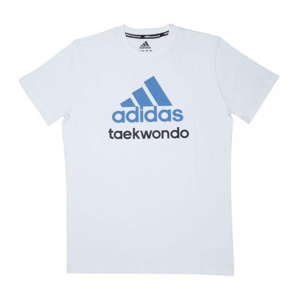 Футболка детская Community T-Shirt Taekwondo Kids хлопковый трикотаж эффективно отводит влагу от тела во время тренировки рифленый круглый ворот  1