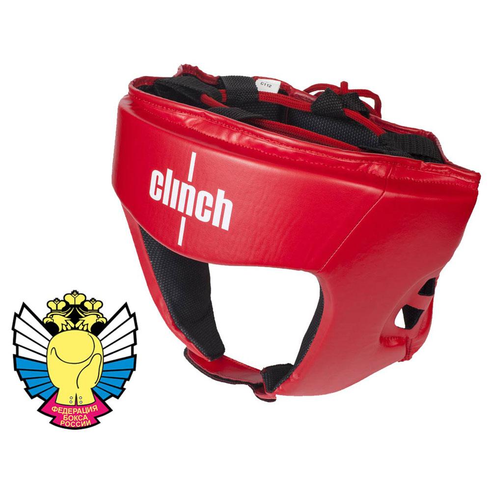 Боксерский шлем Clinch Olimp из высококачественного эластичного полиуретана регулировка с помощью липучек и шнуровки