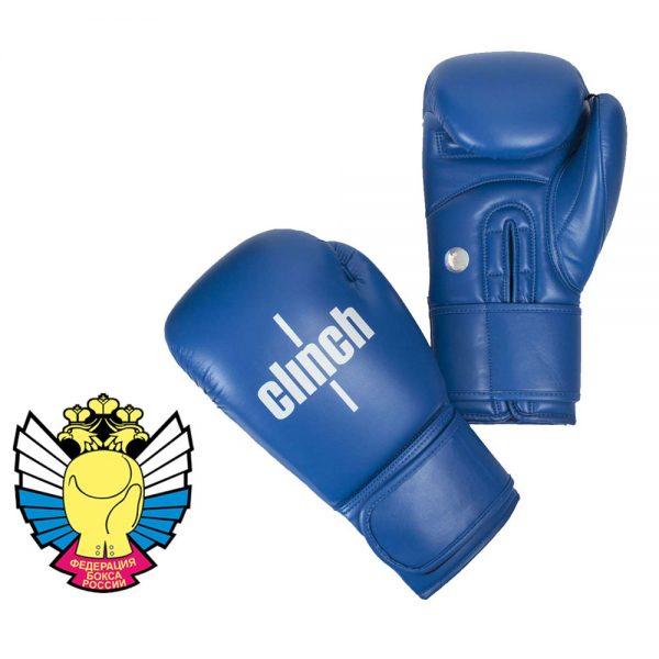 Боксерские перчатки Clinch Olimp из высококачественного эластичного полиуретана широкая манжета на липучке 1