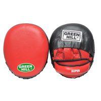Лапа боксерские SUPER new х 2 овальная форма с углублением фиксаторы на липучке