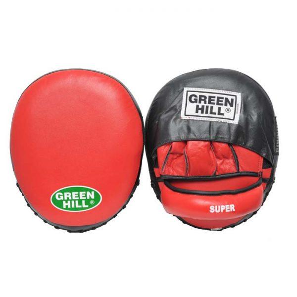 Лапа боксерские SUPER new х 2 овальная форма с углублением фиксаторы на липучке 1
