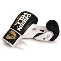 Профессиональные боксерские перчатки PROFFI на шнуровке. верх из натуральной кожи