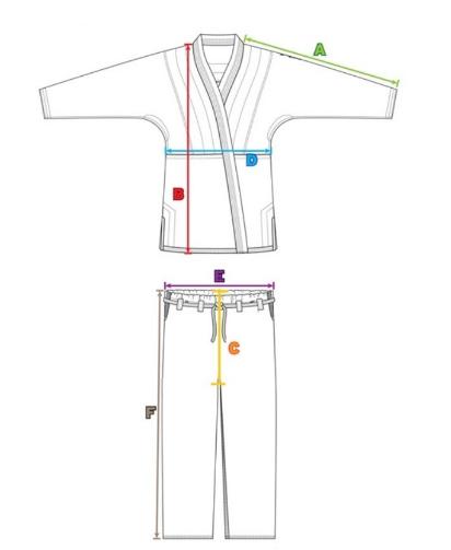 Кимоно для тхэквондо (добок) детское Adidas WT Adi-start, рифленая структура ткани, микровентиляция