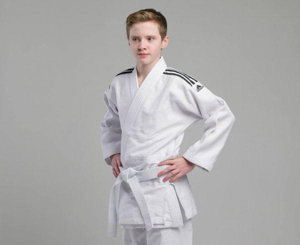 Кимоно для дзюдо Adidas Training белое, усилено в областях с высокой нагрузкой 4