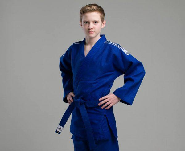 Кимоно для дзюдо Адидас Training синее, усилено в областях с высокой нагрузкой 500 грамм 6