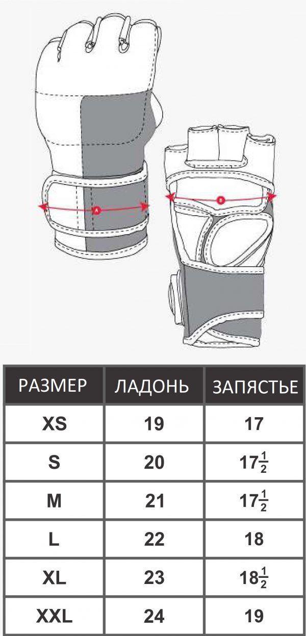 MMA-0057 ПЕРЧАТКИ MMA