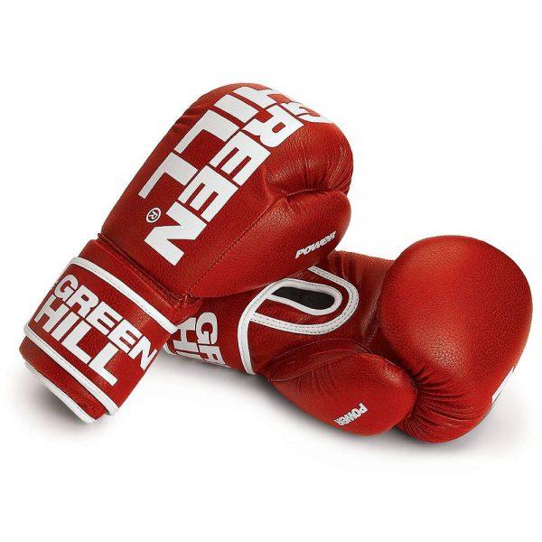 Перчатки для кикбоксинга, тайского бокса POWER Green Hill