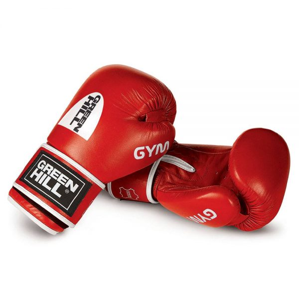 боксерские перчатки GYM Green Hill натуральная кожа 1