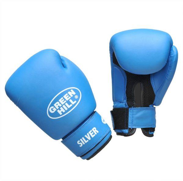 боксерские перчатки Silver Green Hill 1