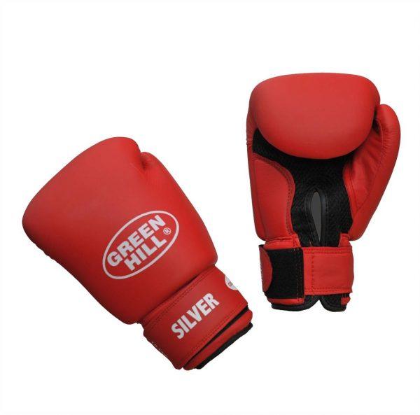 боксерские перчатки Silver Green Hill 2