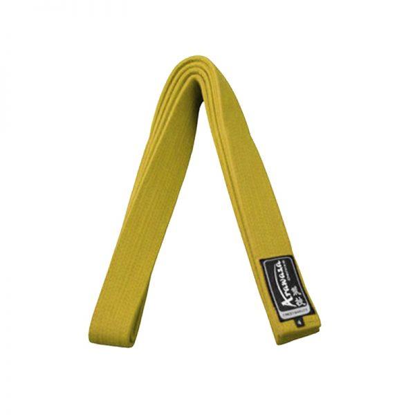 Пояс каратэ для кумите Arawaza желтый хлопок одобрено WKF 1