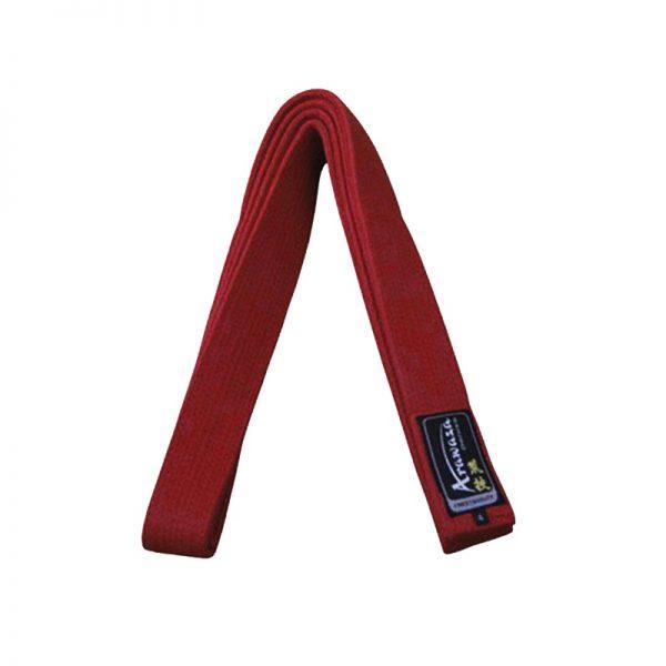 Пояс каратэ для кумите Arawaza красный хлопок одобрено WKF 1