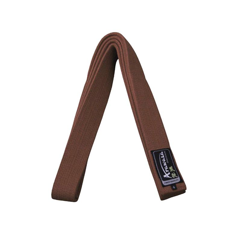 Пояс каратэ для кумите Arawaza коричневый хлопок одобрено WKF