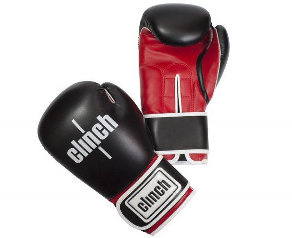 клинч файт перчатки боксерские черно красные