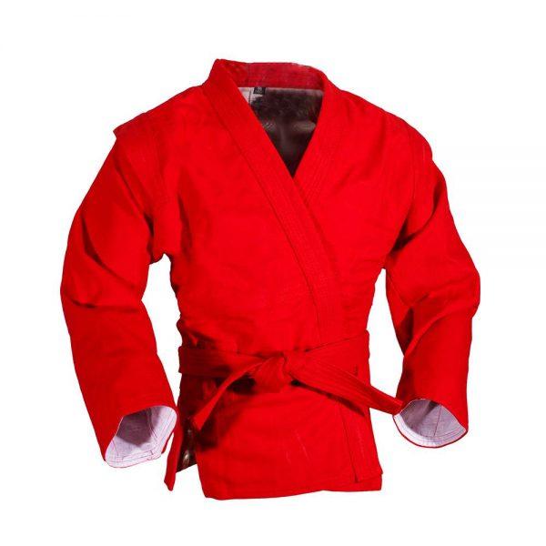 куртка самбо лицензированная федерацией самбо красная