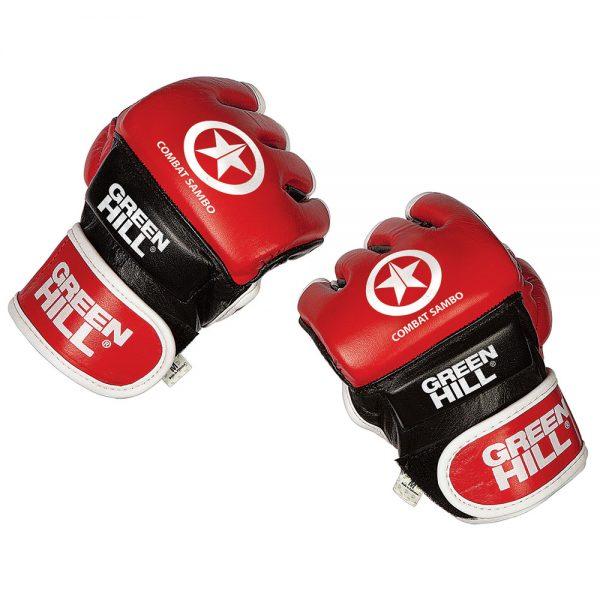 перчатки Боевое самбо и ММА натуральный кожа Грин Хилл
