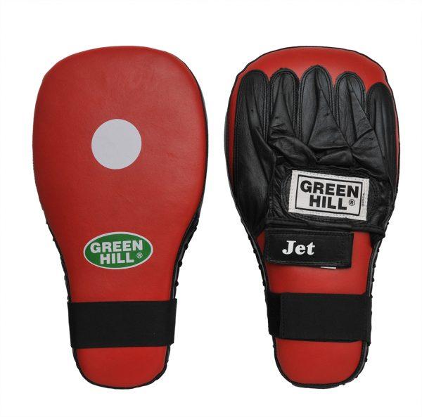 """Лапа боксерская """"JET"""" х 2 шт для отработки прямых ударов кожа 1"""