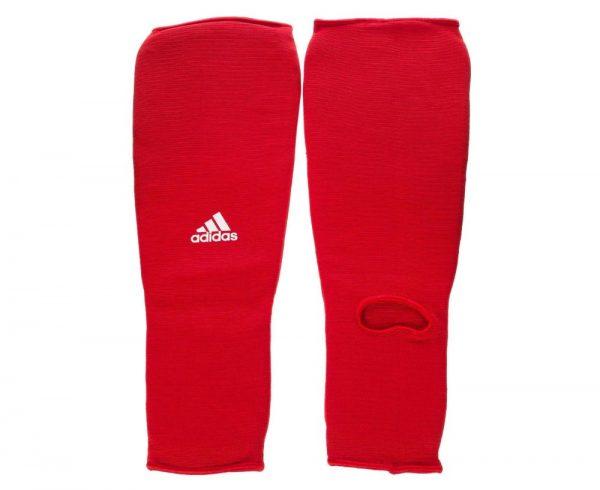 Защита голени и стопы красная тканевая Адидас (Adidas)