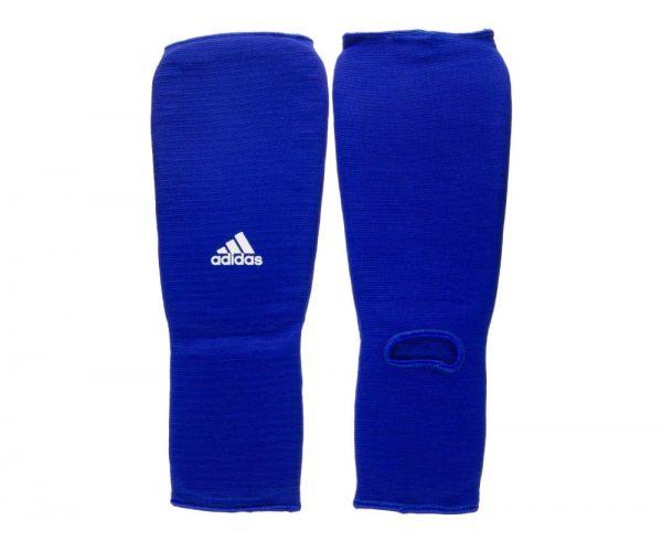 Защита голени и стопы синяя тканевая Адидас (Adidas)