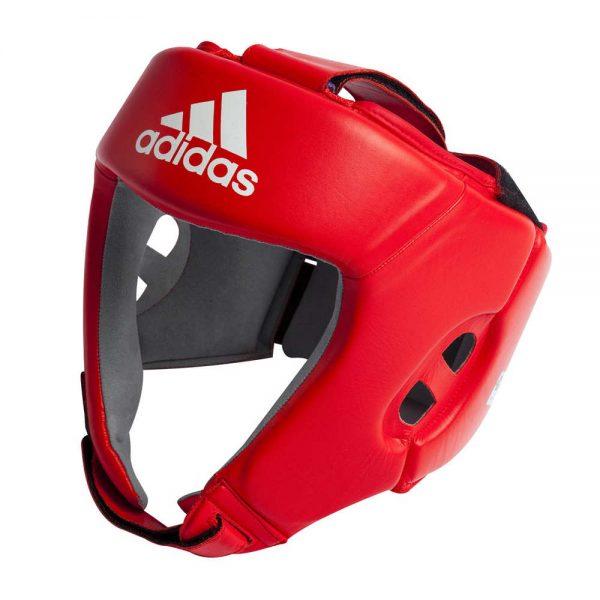 Боксёрский шлем Adidas AIBA (лицензированная модель) из воловьей кожи 1