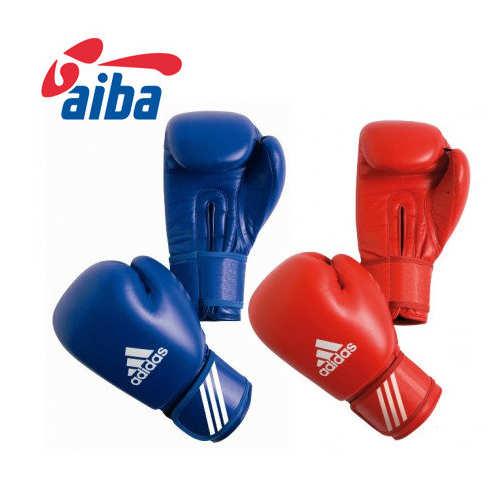 Боксёрские перчатки Adidas AIBA (лицензированная модель) из воловьей кожи 1