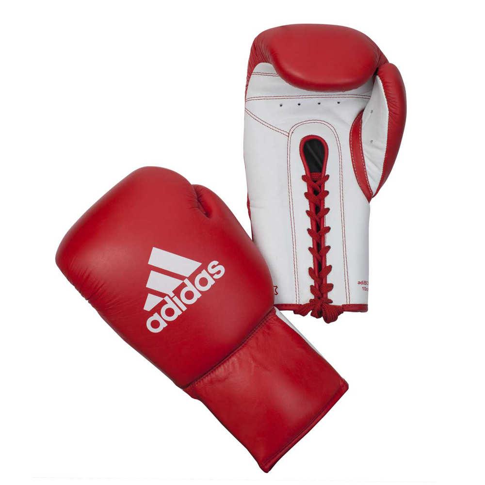 Профессиональные боксёрские перчатки на шнуровке Adidas Glory из воловьей кожи