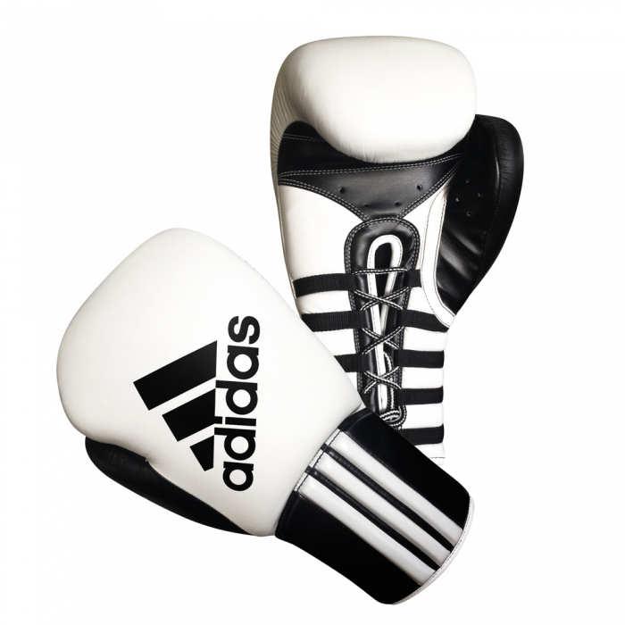 Профессиональные боксёрские перчатки Adidas Safety Sparring Gloves для спаррингов на шнуровке