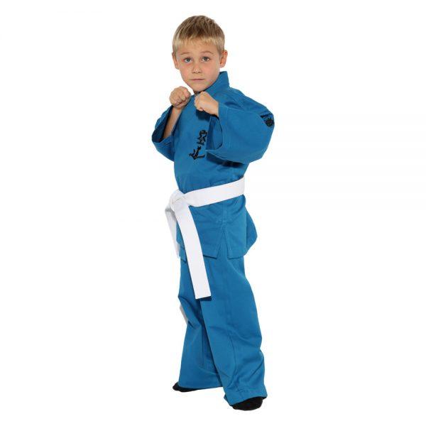 Детское кимоно для Кудо синее хлопок одобрено Федерацией кудо России 1