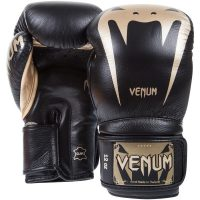 Боксерские перчатки Venum Giant 3.0 Black/Gold Nappa Leather