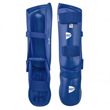 SIP 2145 Защита голени и стопы для каратэ Green Hill красная/синяя