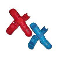 KPRO2012 Защита голени и стопы для карате WKF красная/синяя DAEDO