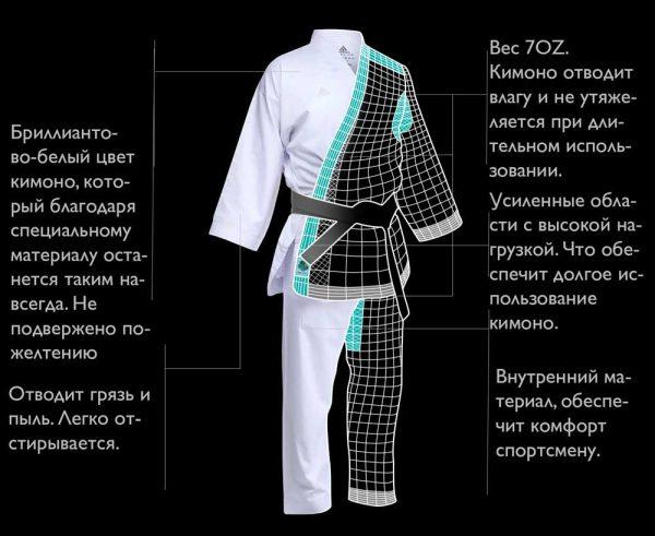 кимоно кумите ревофлекс адидас 7