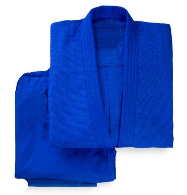 Кимоно для дзюдо KHAN CLUB BLUE синее с пояс