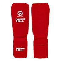 SIC-6131cs Защита на ноги для боевого самбо COMBAT SAMBO Green Hill эластичная (красная/синяя)